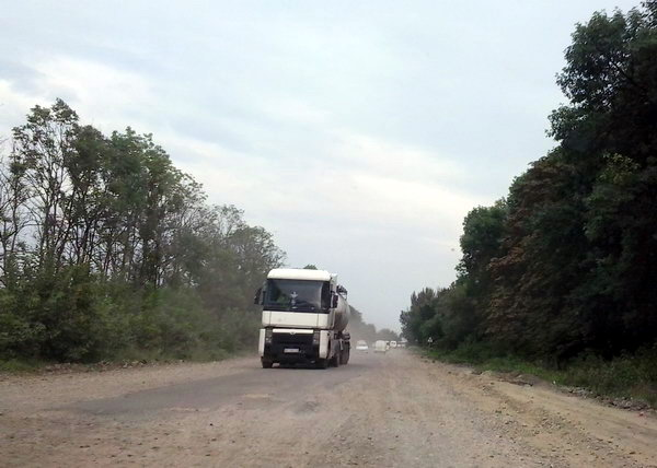 Дорога на трасі Бурштин-Галич
