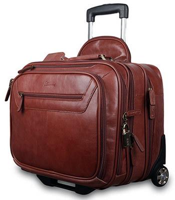 валіза з натуральної шкіри