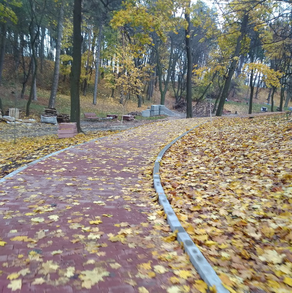 Велосипедна доріжка у парку Личаківський