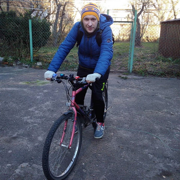 Велосипедом в січні