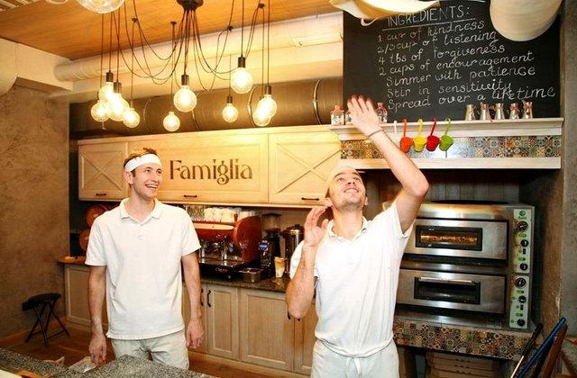 Піца, яку пропонують в La Famiglia