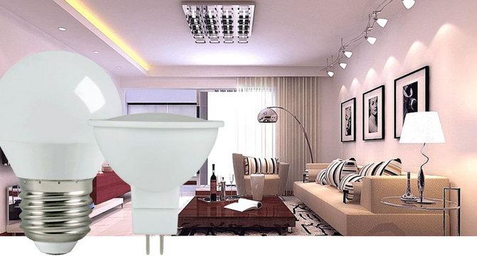 світлодіодні лампи в інтер'єрі