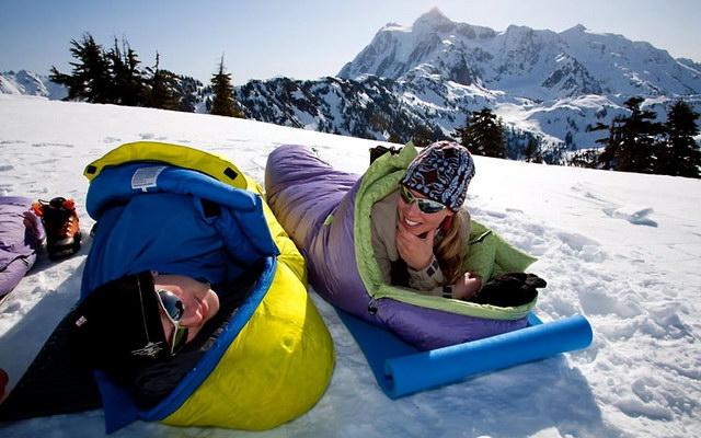 спальний мішок для зимового походу